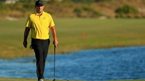 Patrick Reed took a two-stroke penalty while leading the Hero World Challenge on Friday.