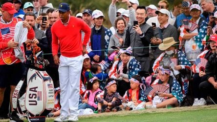 Tiger Woods Presidents Cup Fans
