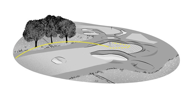 Punchbowl designs are a unique mix of intimidating and approachable, with Sleepy Hollow G.C.'s recently renovated 16th serving as a good example of the risk-reward.