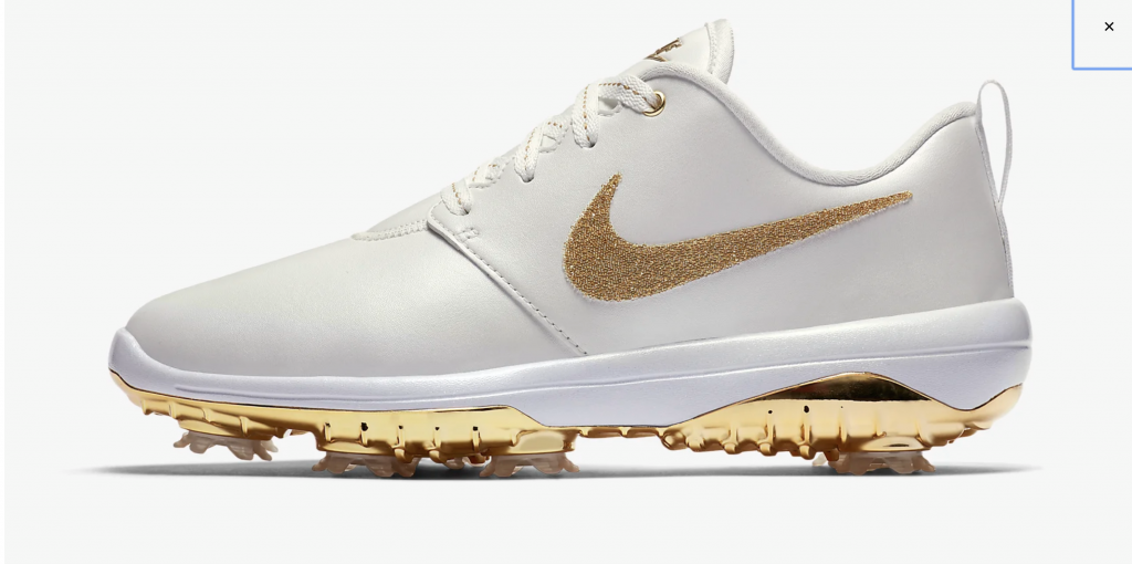The Nike Roshe x Swarovski has a gold plated, spiked sole.