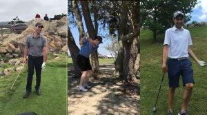 GOLF staff members react to their worst golf shots