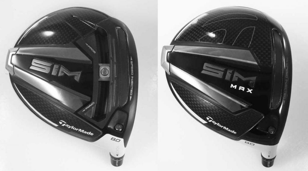 TaylorMade's SIM and SIM Max drivers were spotted on the USGA's conforming driver head list.