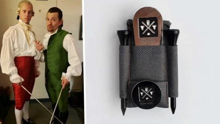 The newest brilliant golf accessory was created (in part) backstage at 'Hamilton.'