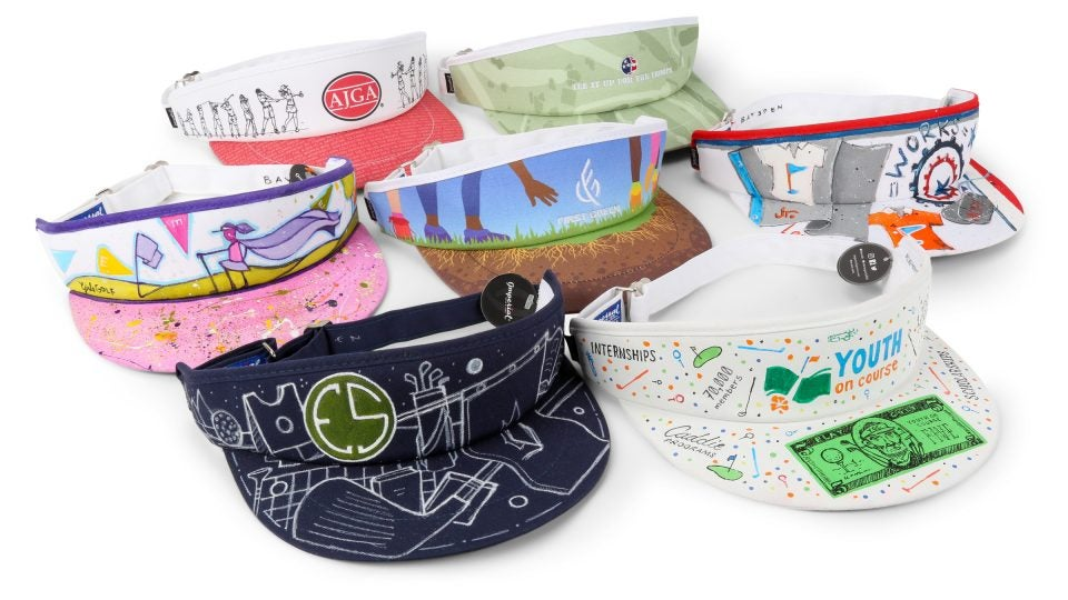 Imperial Headwear is partnering with non-profit organizations to create one-of-a-kind Tour Visors for an auction fundraiser.