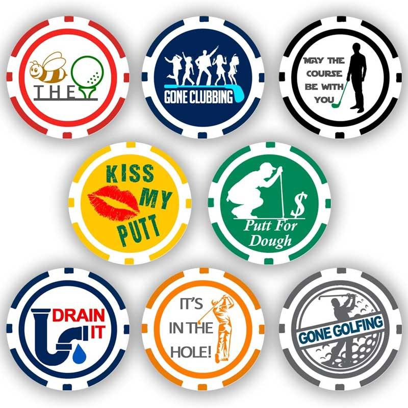Da Vinci Golf Ball Marker Poker Chip Collection.