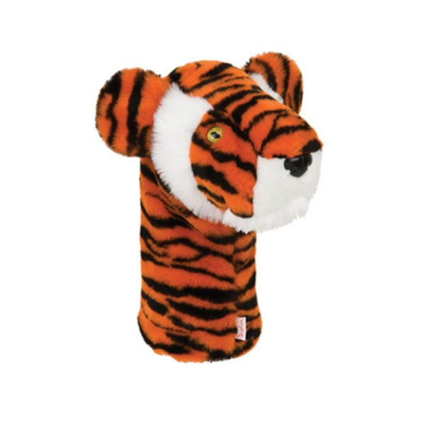 A tiger headcover from Daphne's Headcovers.