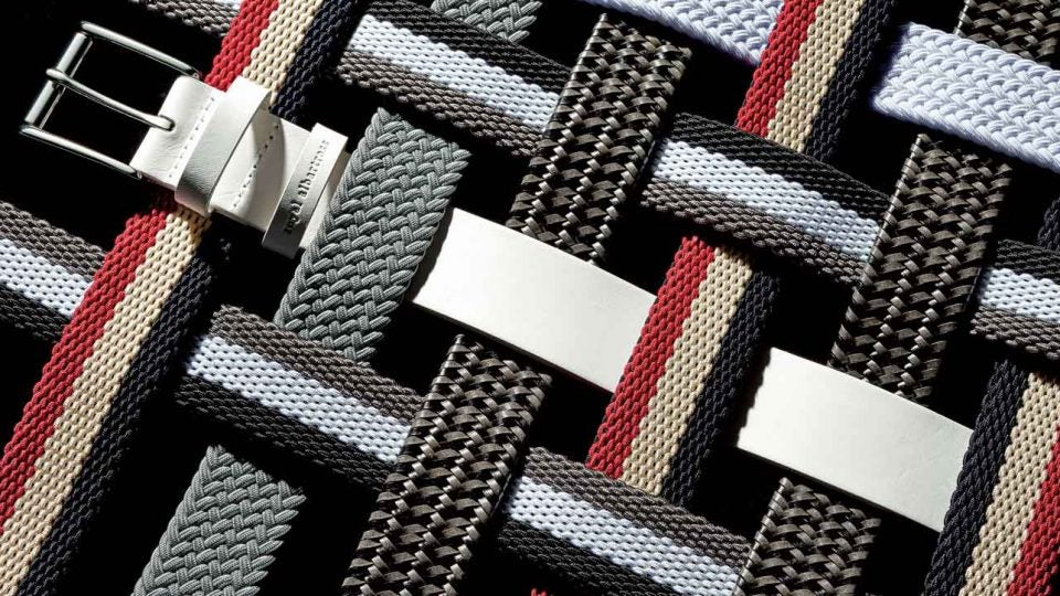 A selection of Royal Albartross belts perfect for the golf course