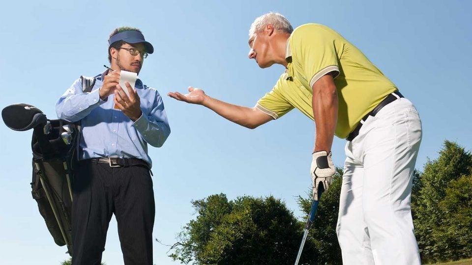 Cheating golfers aruging