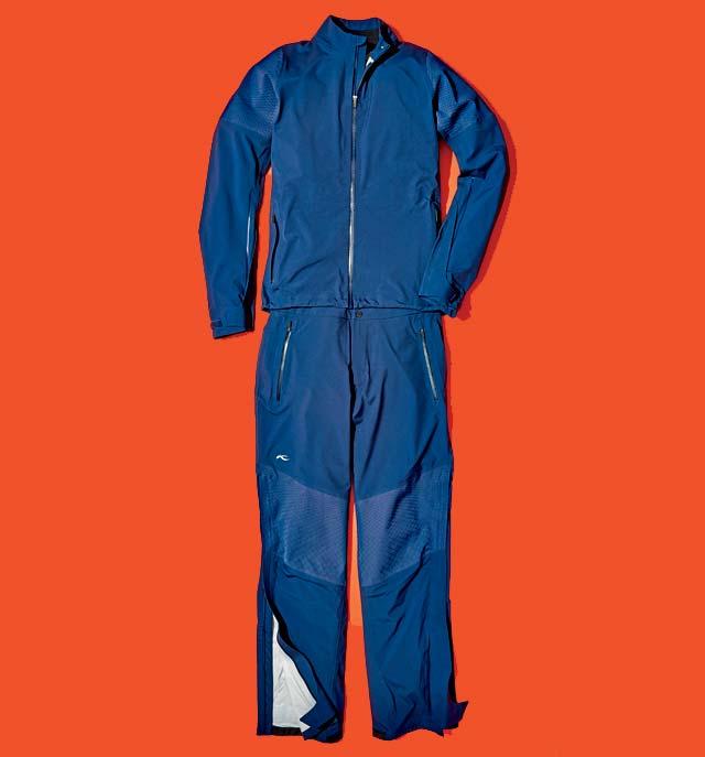 Kjus men's Pro 3L 2.0 rain jacket and pants.