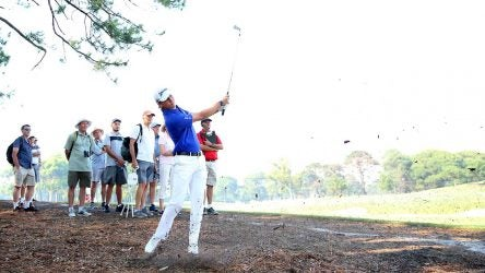 Smylie Kaufman watches a shot during the 2019 Australian Open. He's playing this week on a sponsor's invitation.