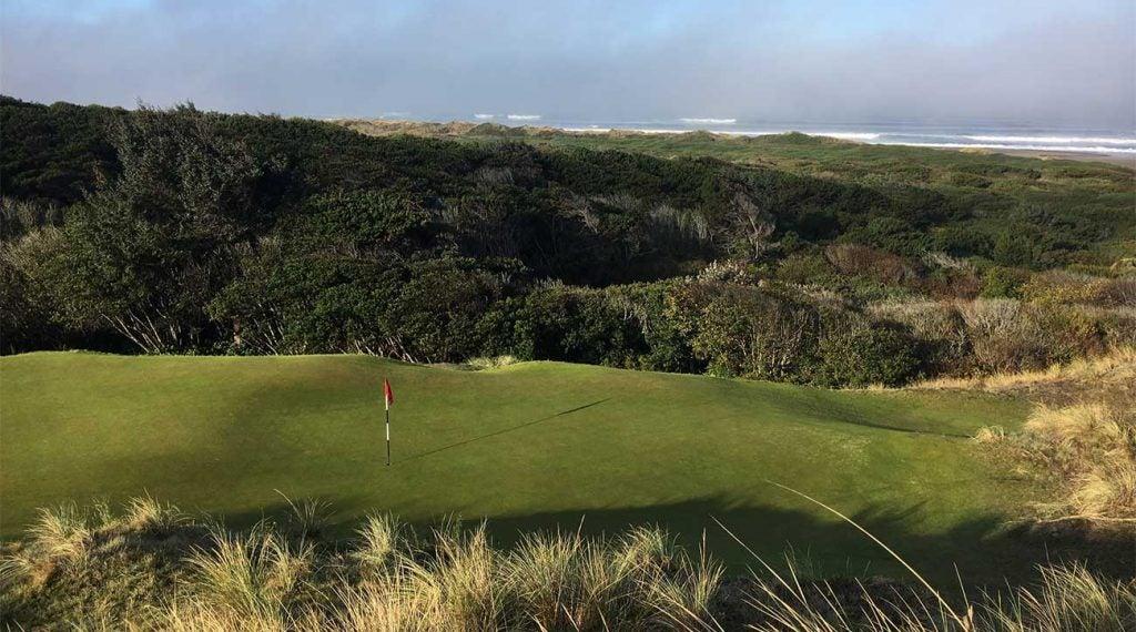 One of the greens at The Preserve at Bandon Dunes Golf Resort.