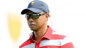 Tiger Woods at the 2016 Presidents Cup