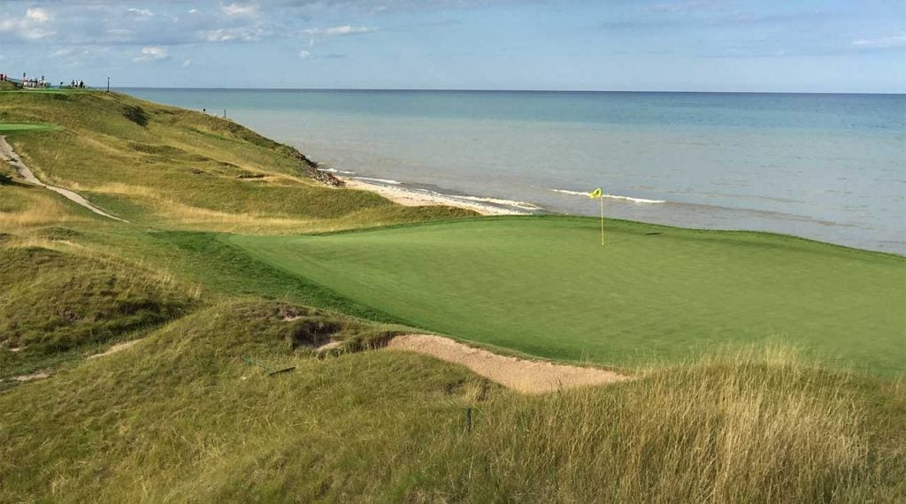All of Whistling Straits' par-3s come with gorgeous water views.