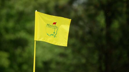 Yellow Master's flag in the breeze