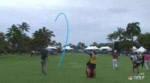 Brendan Steele's approach shot on 18 likely cost him the tournament.