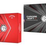 Callaway's 2020 Chrome Soft (L) and Chrome Soft X (R) golf balls.