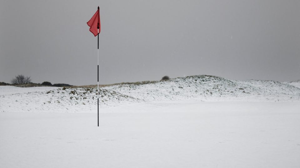 Cold weather golf.