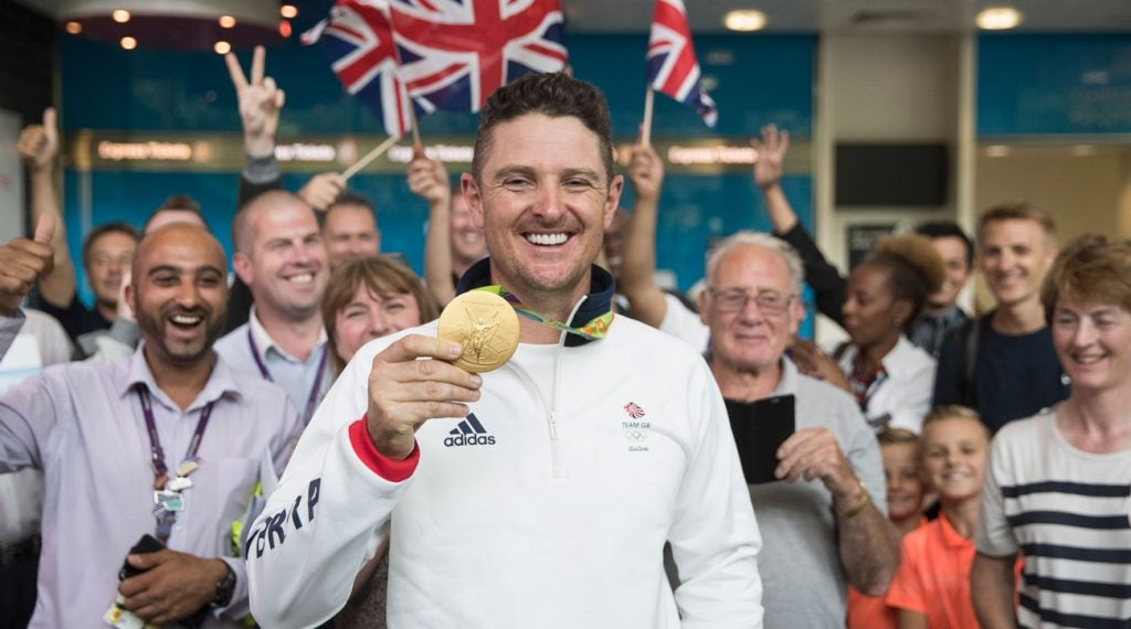 Justin Rose touted his Gold Medal wherever he went in 2016.
