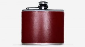 Still life of flask on white background