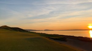 Spectators who simply watched Chambers Bay through their television sets have no idea how great it looks at sunset.
