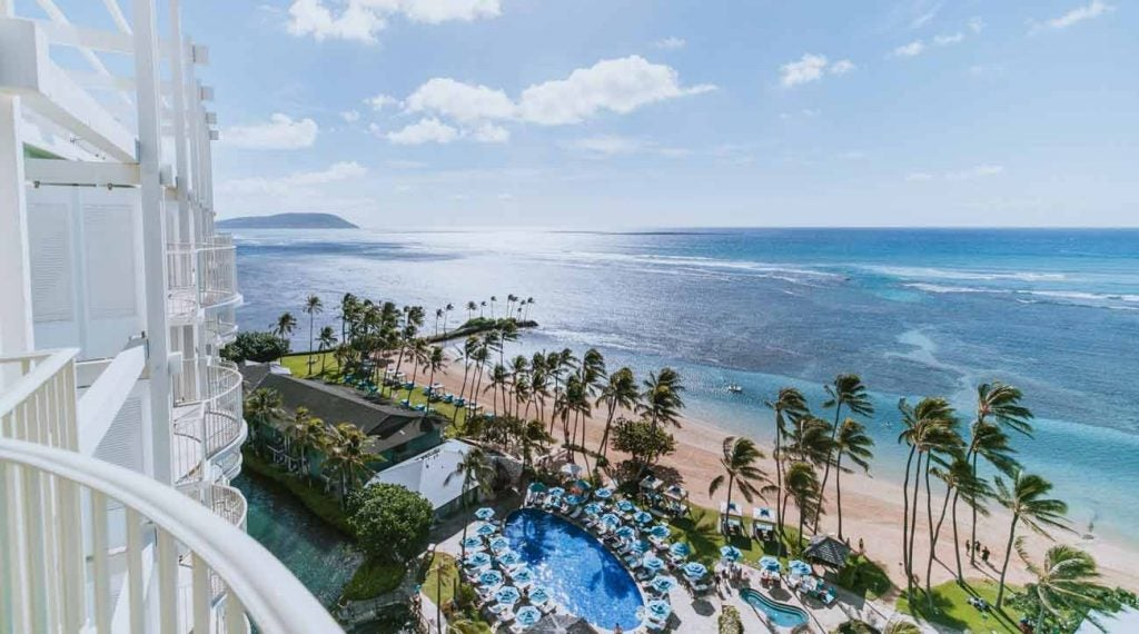 Kahala Hotel & Resort is situated on a beautiful white-sand beach.