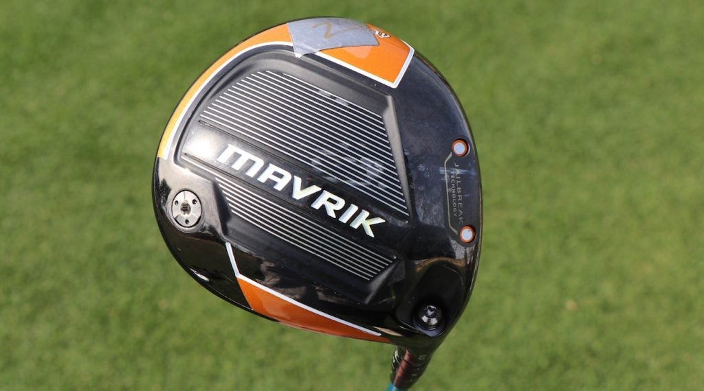 Kevin Na's Callaway Mavrik driver has a bit of lead tape added to the toe section to keep the ball from drawing too much.