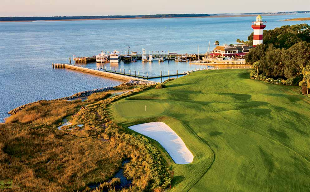 Harbour Town is one of Nicklaus' first (and most intelligent) designs, providing a slick, challenging track in only 7,000 yards.