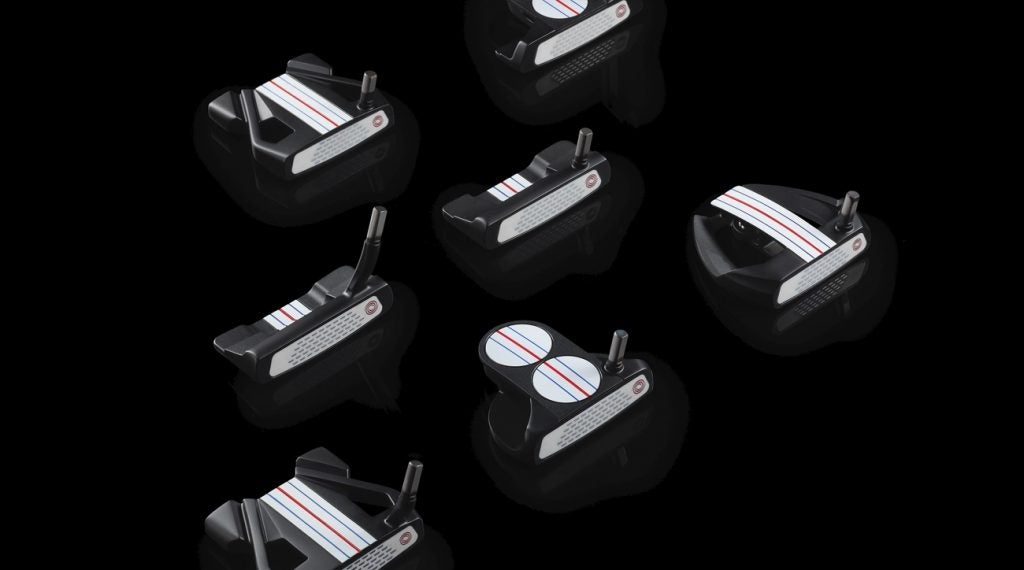 Odyssey's Triple Track design is based on the popular alignment aid found on the company's golf balls.