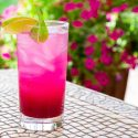Prickly pear mocktail