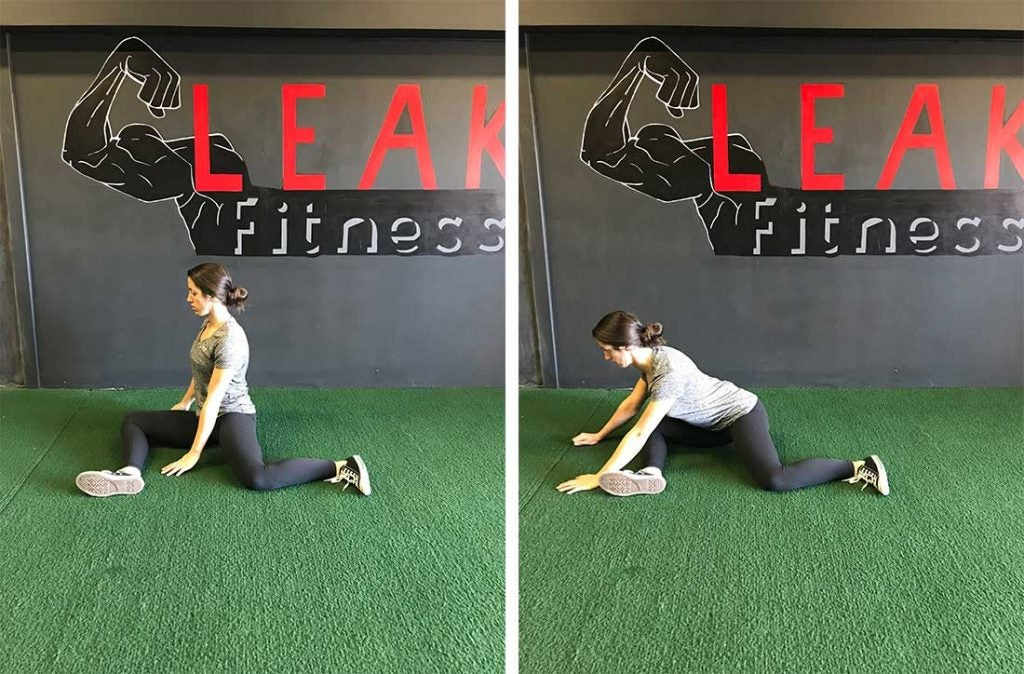 The 90/90 hip stretch is great for hip mobility and will help you turn in your swing.
