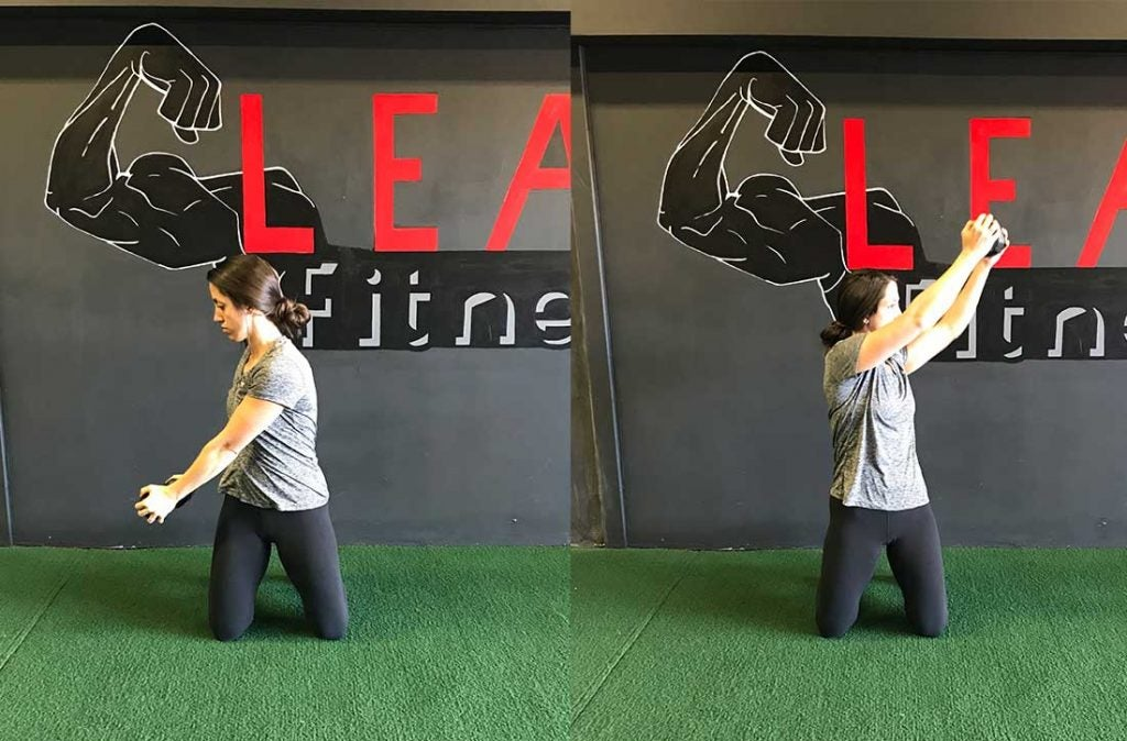 Develop your shoulder strength and stability with the kneeling chop exercise.