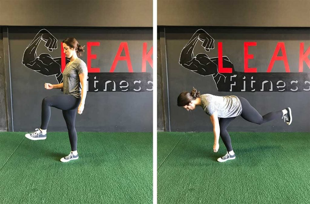 Single-leg deadlifts will help you develop power and speed in your swing.