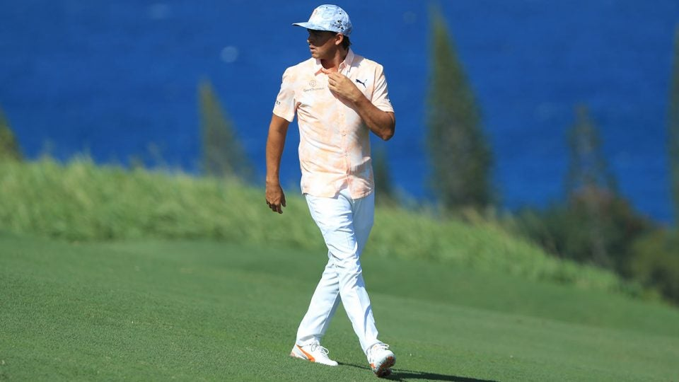 Rickie Fowler turned heads all weekend in Puma's Hawaiian-inspired Island Time collection.