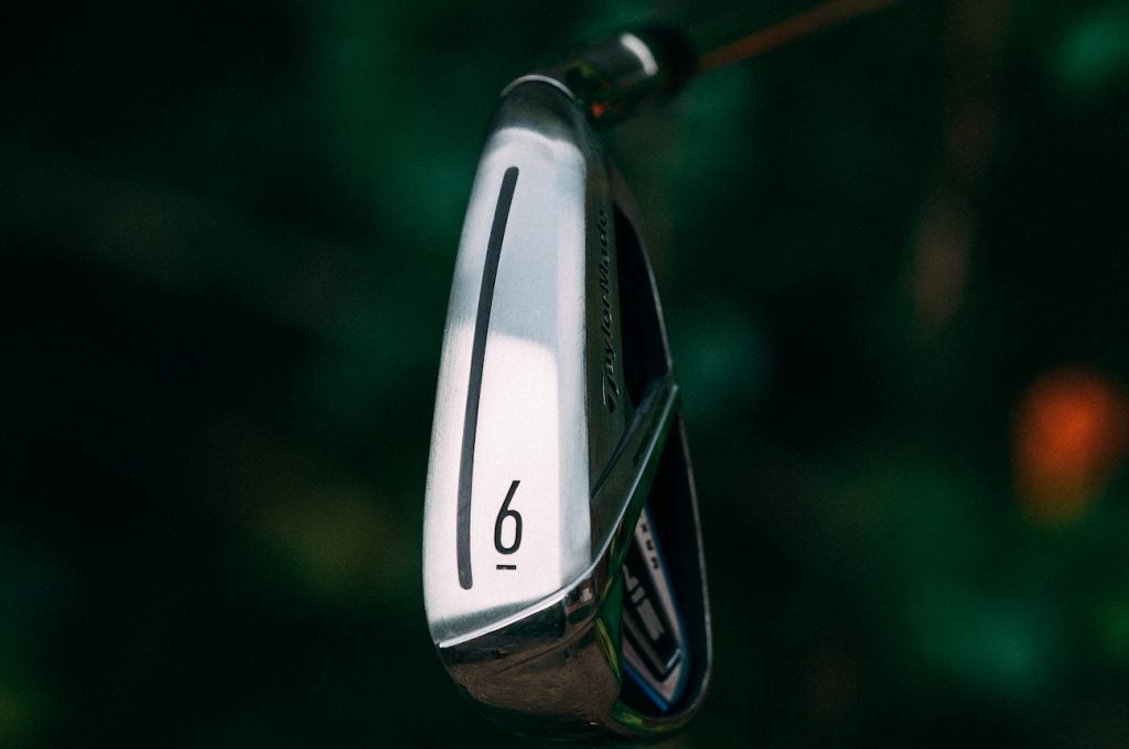View of the sole on TaylorMade's SIM iron.
