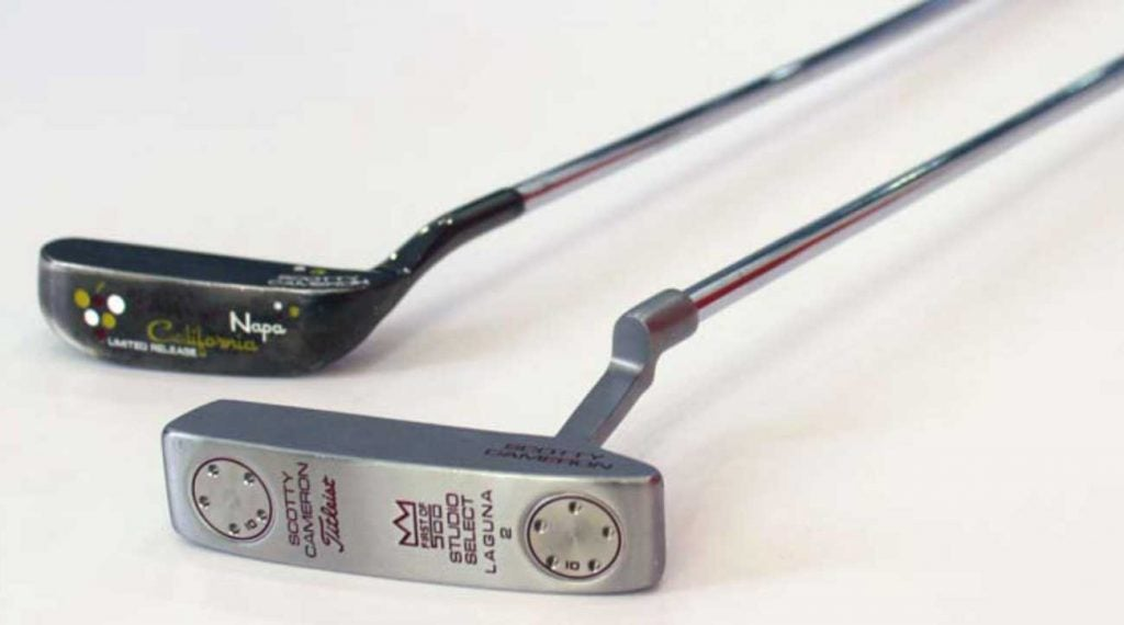Scotty Cameron putters are frequently targeted by counterfeiters — like these two fakes.