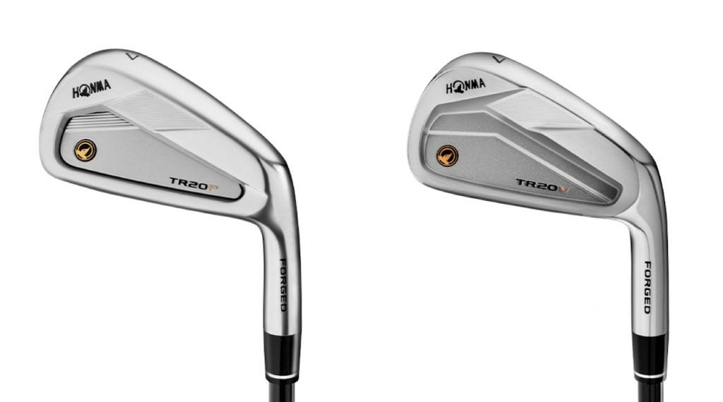 Honma's TR20VP (L) and TR20V (R) cavity-back irons.