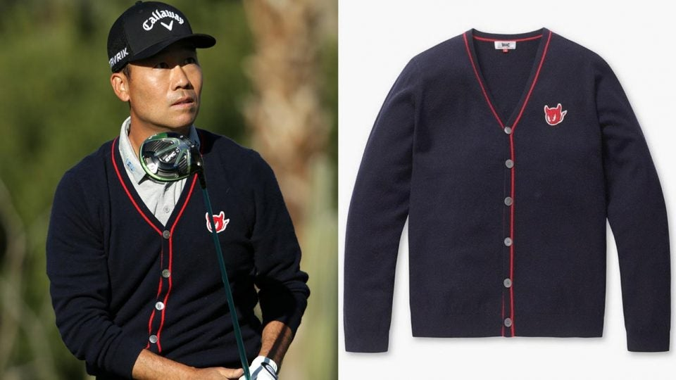 Kevin Na's WAAC Golf cardigan really stood out in the desert this week.