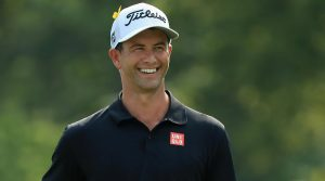 Adam Scott smiles during the final round of the PGA Championship.