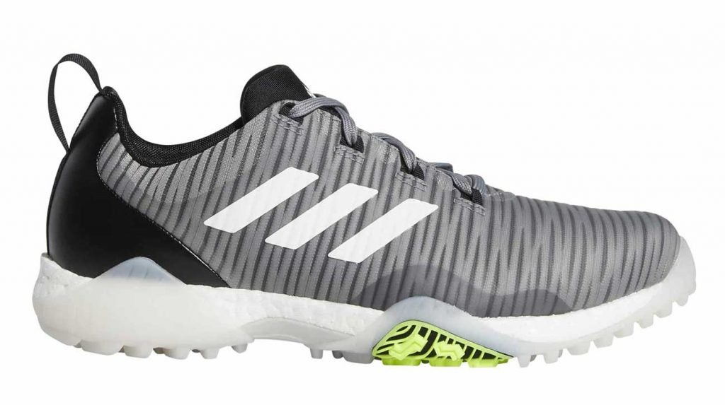 Adidas CODECHAOS shoes in the grey/signal green colorway.