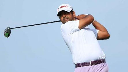 Anirban Lahiri tees off during the 3M Open.