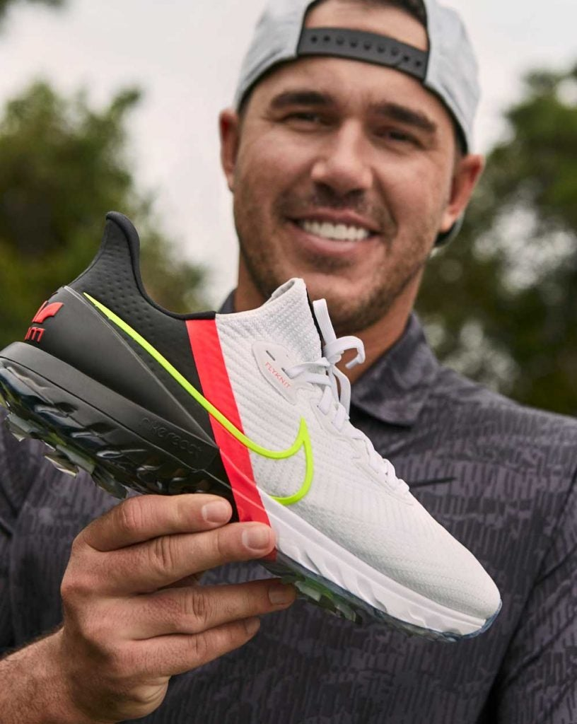 Brooks Koepka with the new Nike Air Zoom Infinity Tour golf shoes.