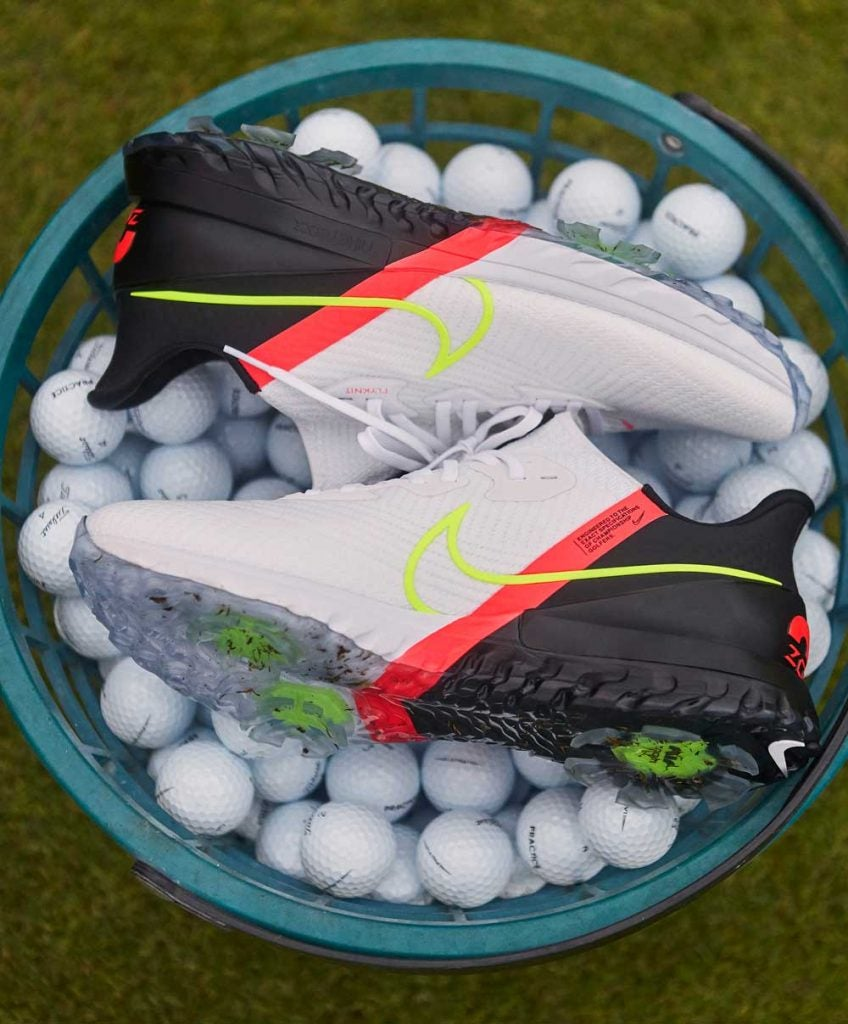The new Nike Air Zoom Infinity Tour golf shoes.
