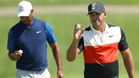 Brooks Koepka competes with Tiger Woods in the majors now, but their first encounter was quite different.