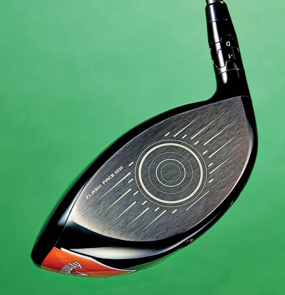 FACE OF THE FUTURE: The AI-engineered clubface of 2019's top-selling Epic Flash gives way to an even more radical version in the Mavrik driver.