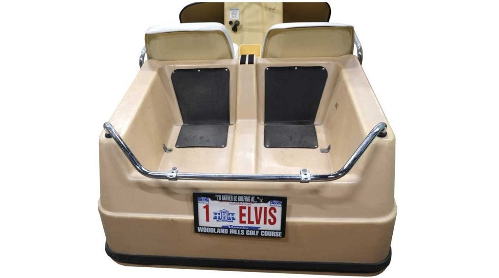 It's now or never. Elvis Presley's Harley-Davidson golf cart is up for auction until Wednesday at noon.