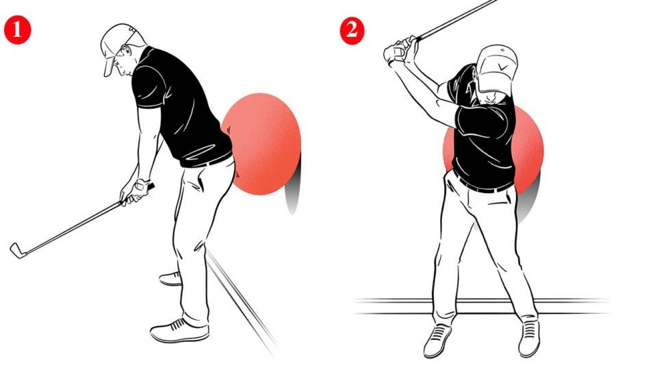 Using an exercise ball as a training aid is a great way to add power to your swing.