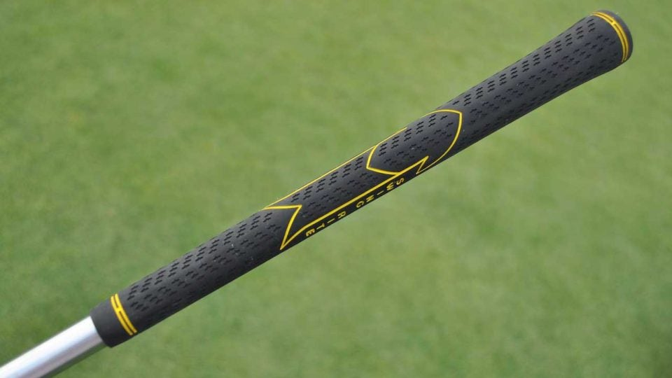 Steve Stricker's Golf Pride Victory Swing Rite grip.