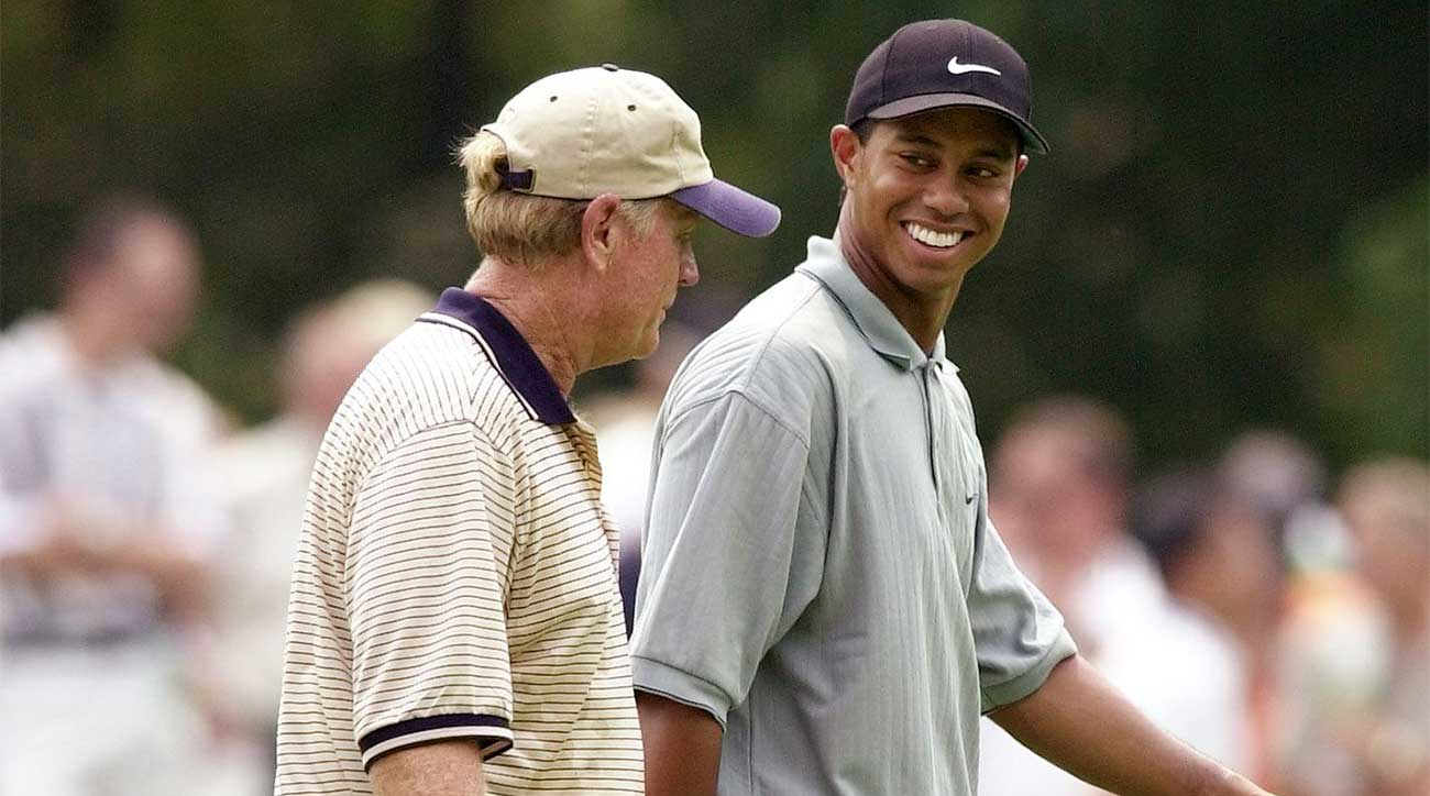 Tiger Woods and Jack Nicklaus, now with 33 major titles between them, played the 2000 PGA Championship side by side.