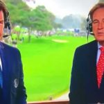 Jim Nantz and Nick Faldo at the beginning of the CBS Sports broadcast of the Farmers Insurance Open.