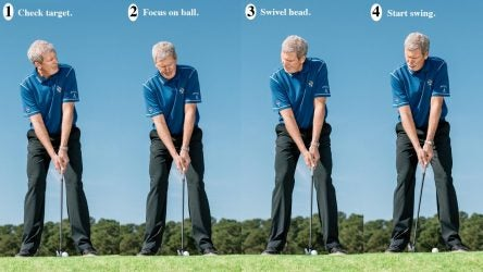 """Using a """"trigger"""" call help you initiate a smooth swing."""